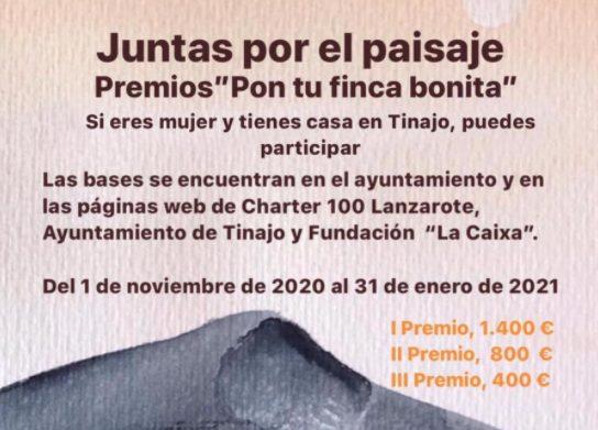 """Charter 100 Lanzarote pone en marcha el I Concurso """"Pon tu finca bonita"""""""