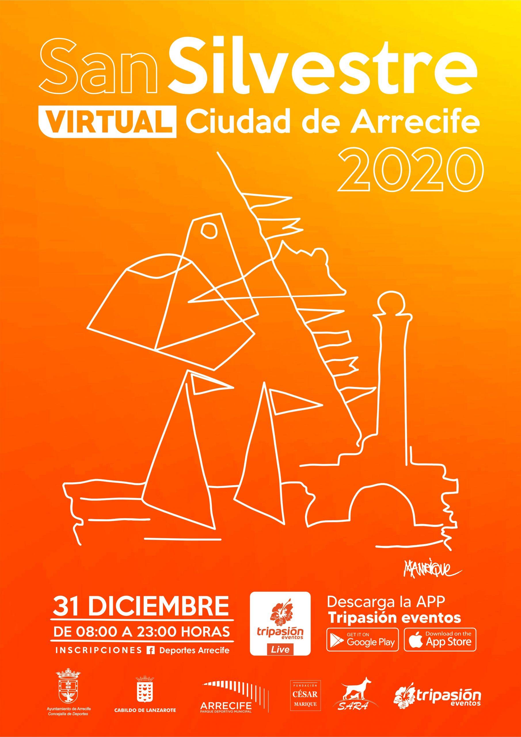 El 31 de diciembre se celebra la San Silvestre Virtual Ciudad de Arrecife 2020
