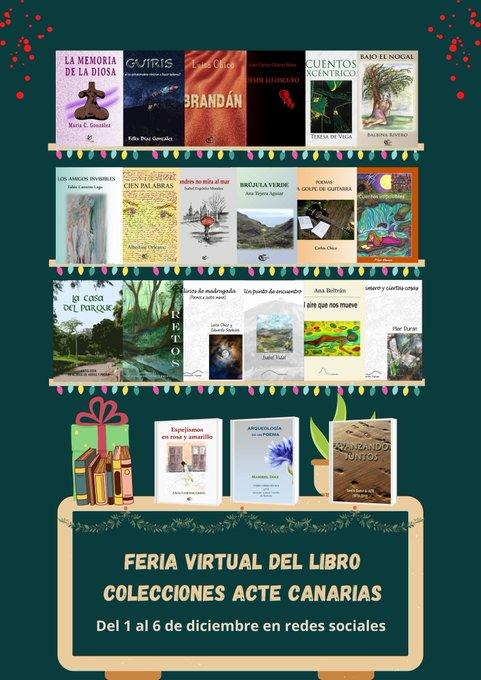 Feria virtual del libro y agenda de diciembre de Acte Canarias