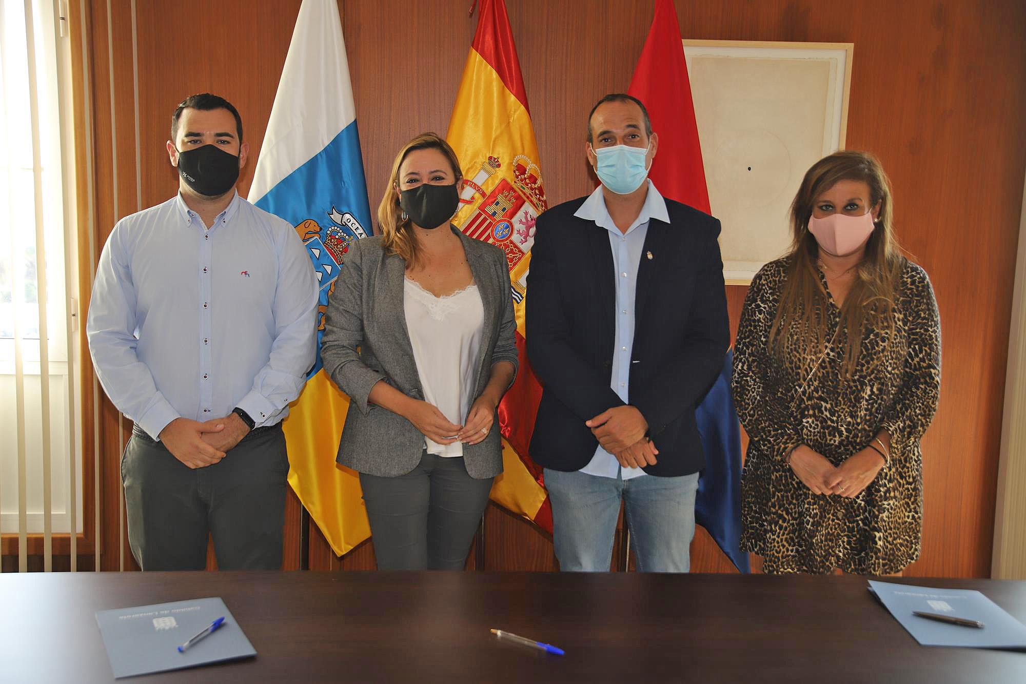 El Cabildo firma la adenda al convenio de la Cueva de Los Verdes