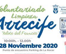 El Ayuntamiento de Arrecife realizará este sábado una limpieza del litoral del Islote del Francés