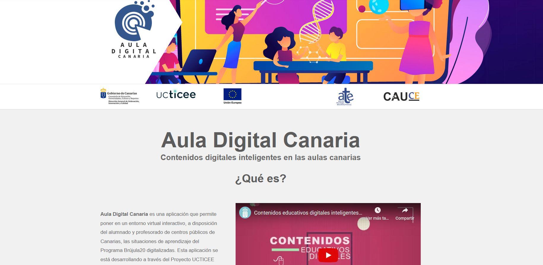 Educación pone en marcha el Aula Digital Canaria en fase de pilotaje en 70 centros educativos de las islas