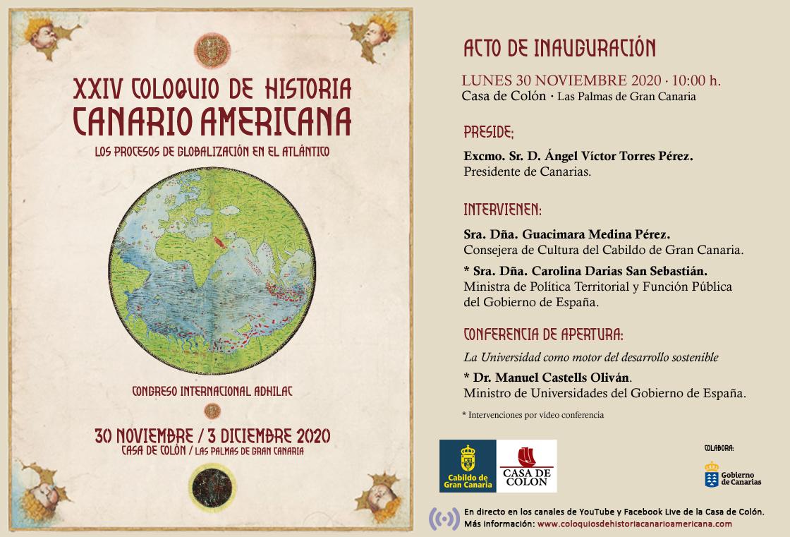Acto de inauguración del XXIV Coloquio de Historia Canario-Americana en la Casa de Colón