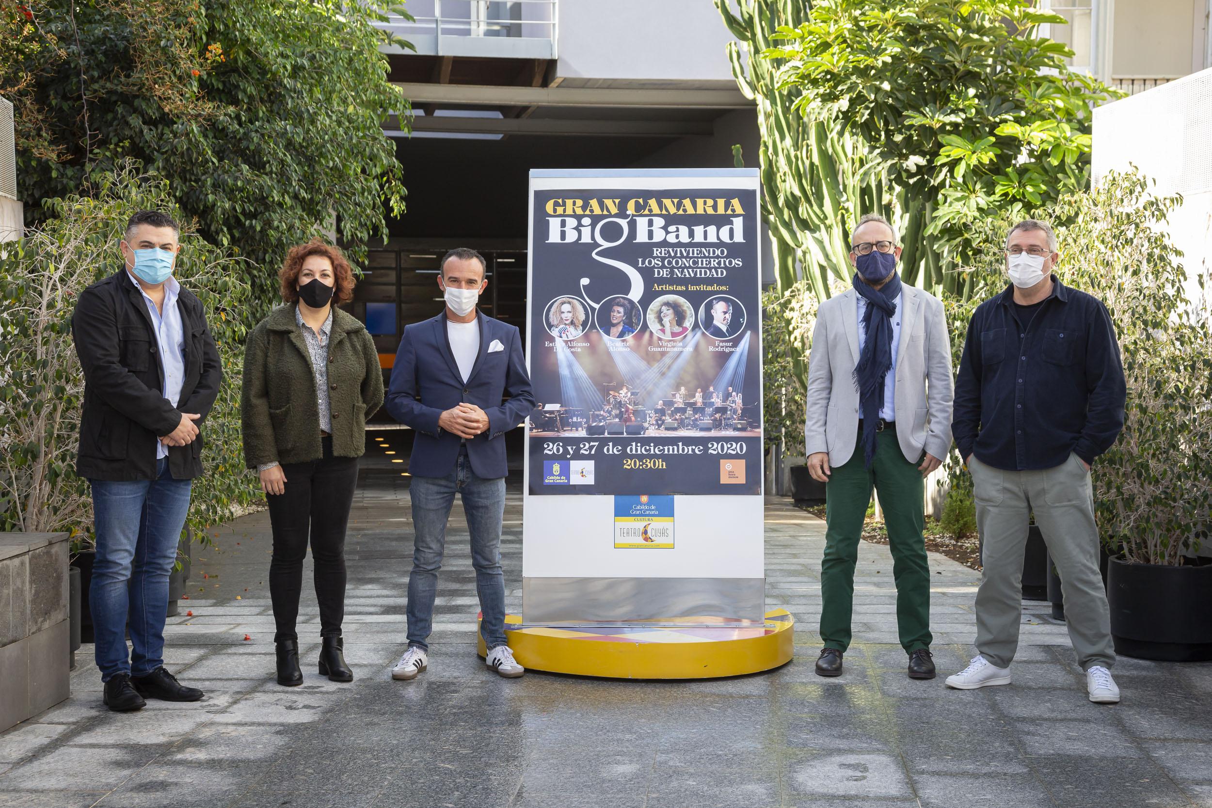 La Gran Canaria Big Band revive en el Cuyás sus conciertos de Navidad junto a cuatro grandes artistas locales