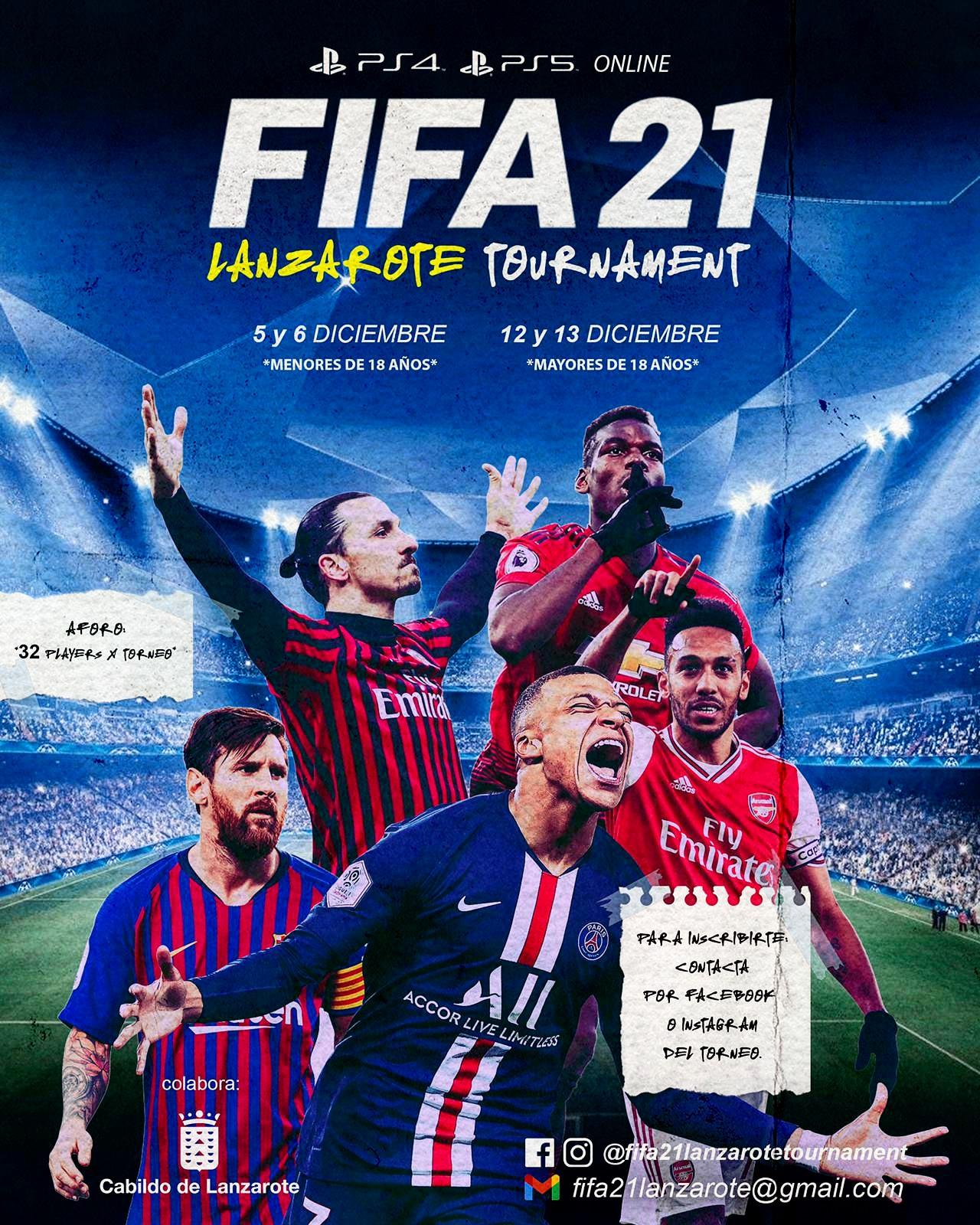 El Cabildo de Lanzarote colabora en la organización de un torneo online del FIFA 21