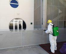 El Cabildo desinfecta los centros educativos de Lanzarote