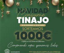 """Vanesa Cuadrado y Gina Pighi, ganadoras de los mil euros de la campaña """"Consume Tinajo"""" en apoyo del comercio local"""