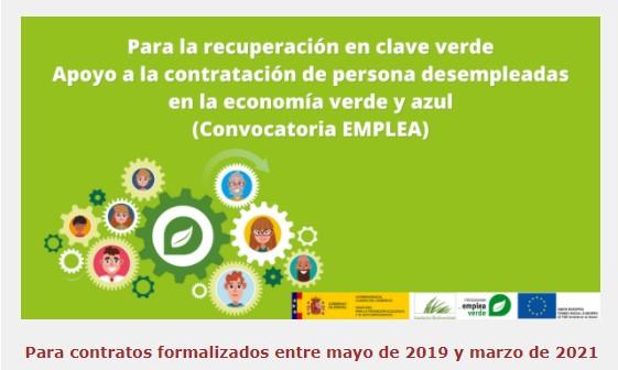 Apoyo a la contratación de personas desempleadas en la economía verde y azul (Convocatoria EMPLEA)