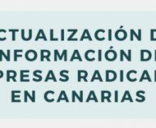 Actualización de información de empresas radicadas en Canarias