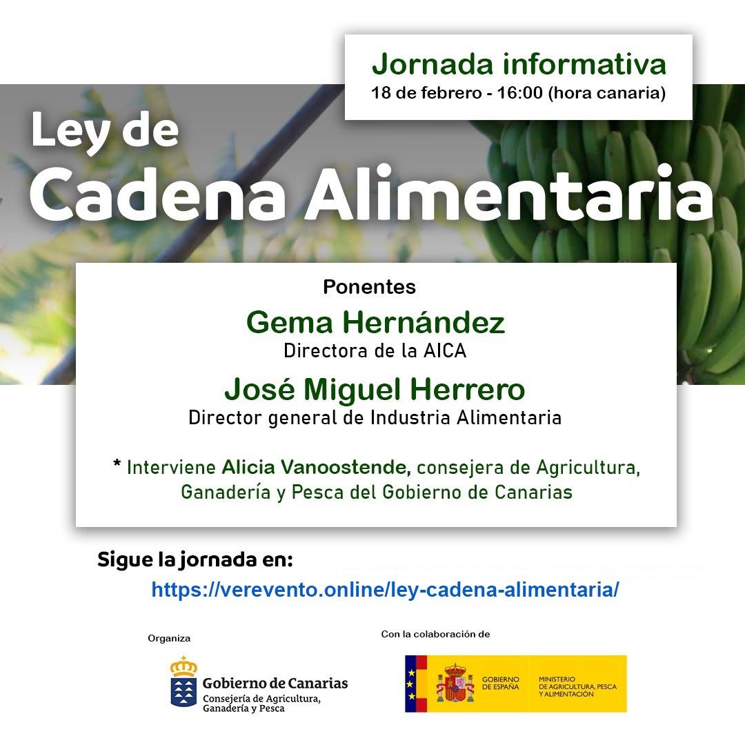 Gobierno canario y Ministerio abordan en una jornada informativa los pormenores de la Ley de Cadena Alimentaria