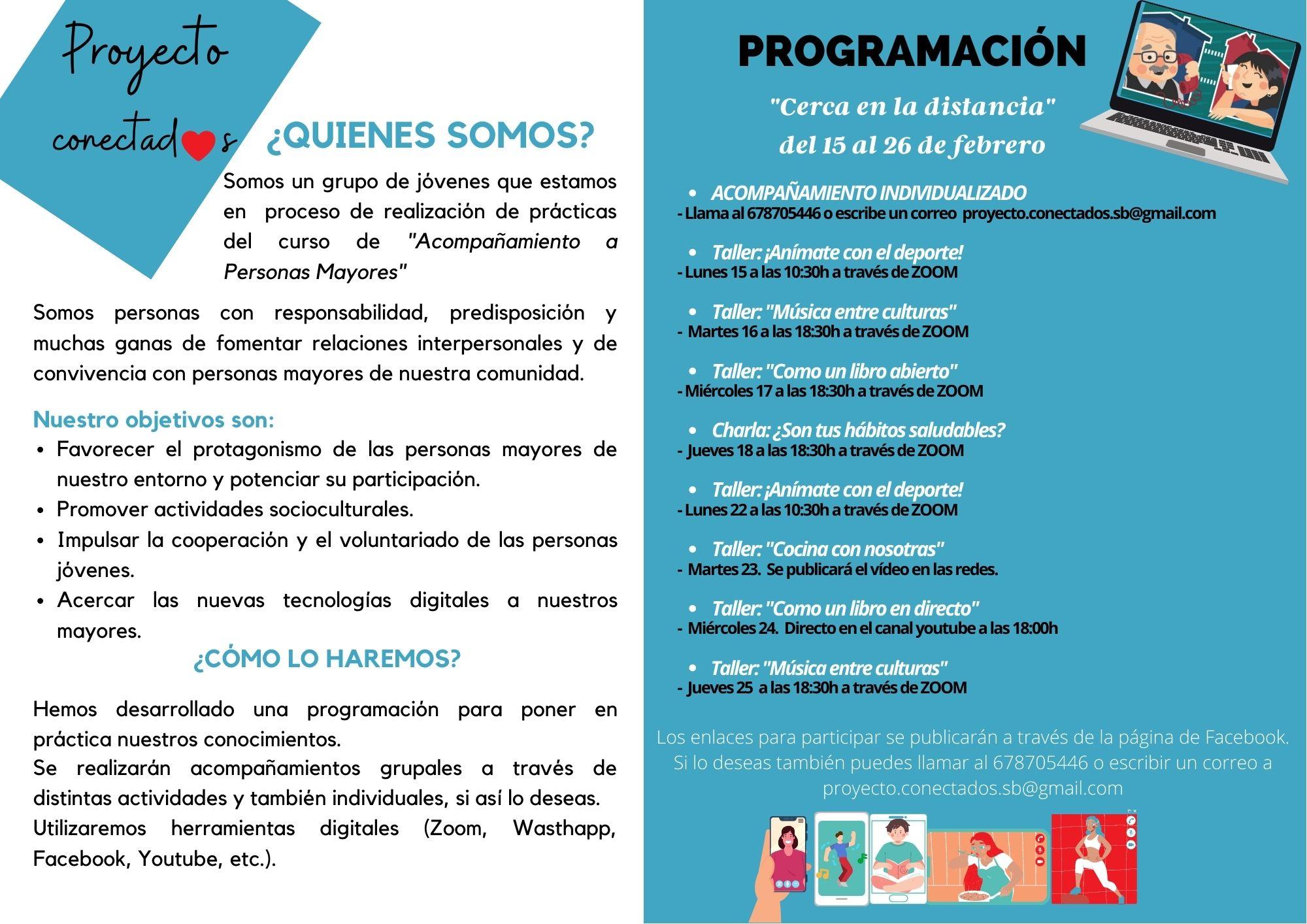 """""""Proyecto Conectad@s, cerca en la distancia"""""""