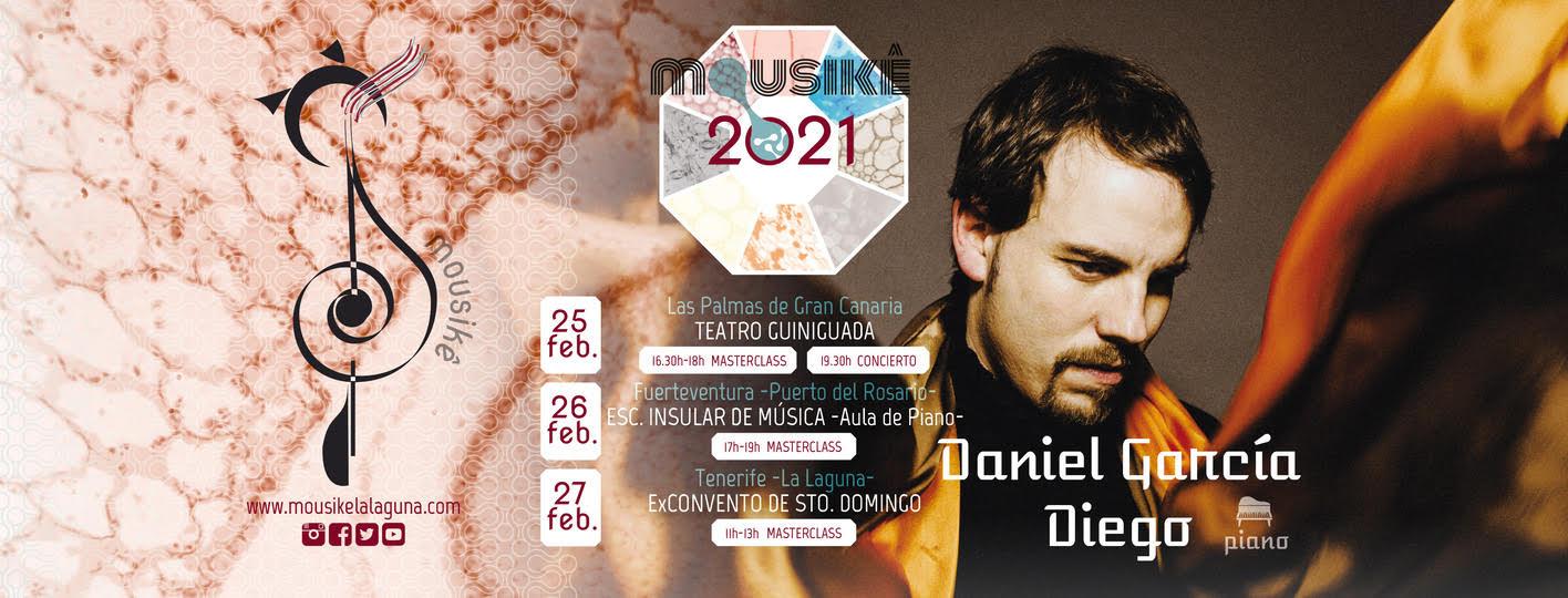 El pianista Dani García ofrece 3 masterclasses gratuitas más 1 concierto en las Islas Canarias con Mousikê
