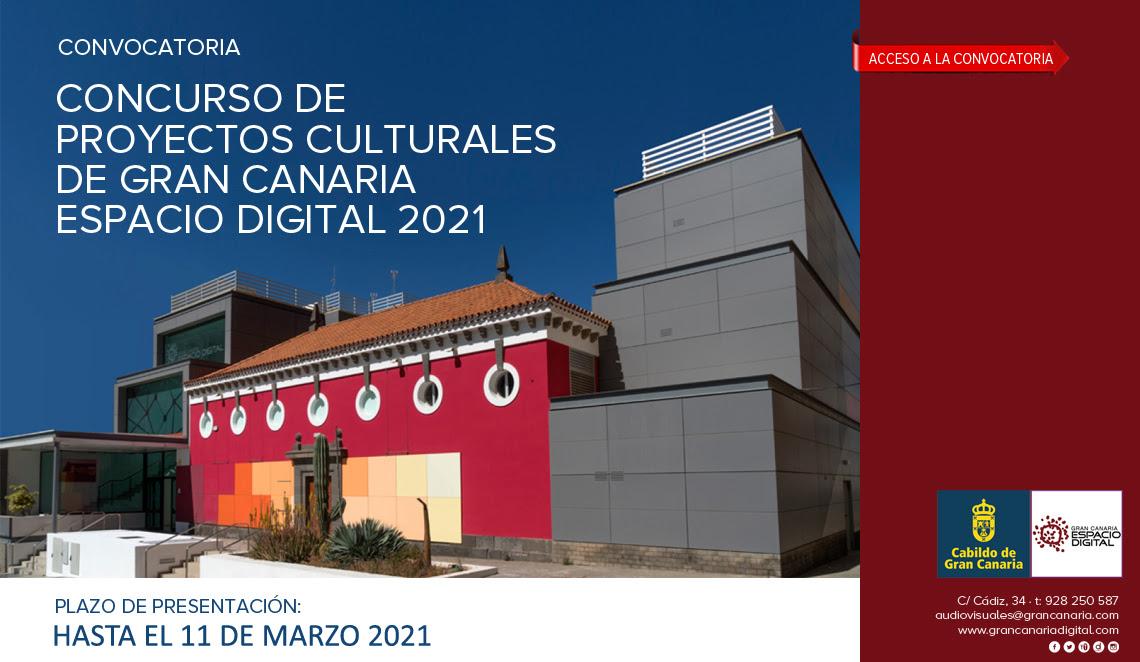 Convocatoria del concurso de proyectos culturales de Gran Canaria Espacio Digital 2021