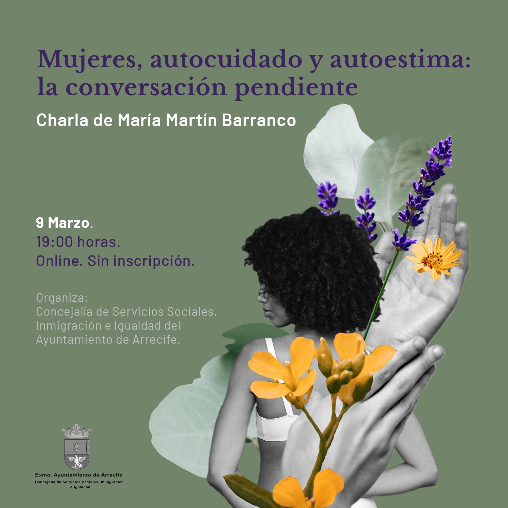 Arrecife organiza una charla online de María Martín Barranco destinada a la reflexión del 8M