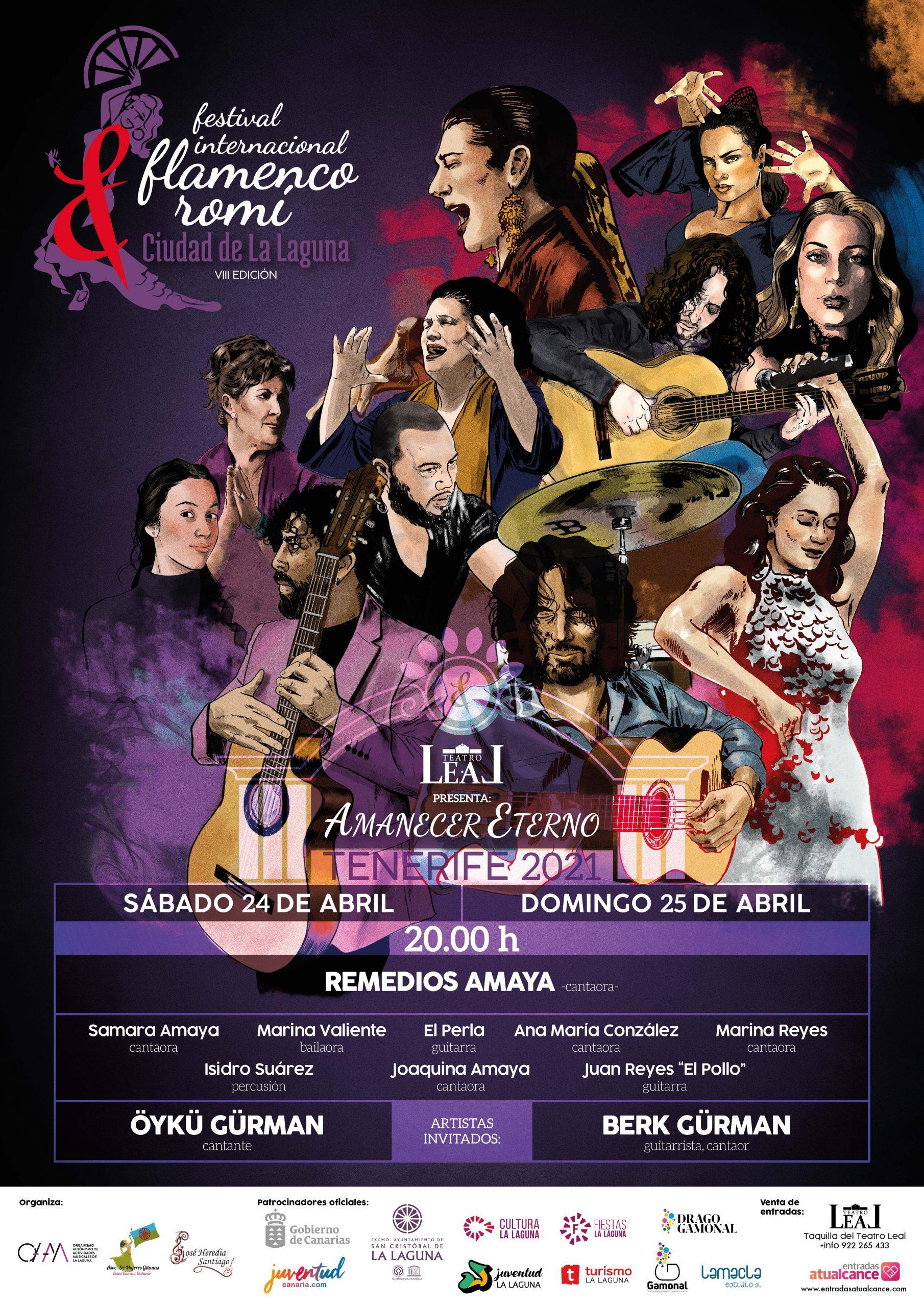 El Teatro Leal, acoge al mejor flamenco en el VIII Festival Internacional Flamenco Romí, Ciudad de La Laguna, Amanecer Eterno