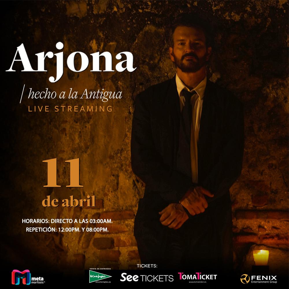 Concierto virtual de Ricardo Arjona para el mundo