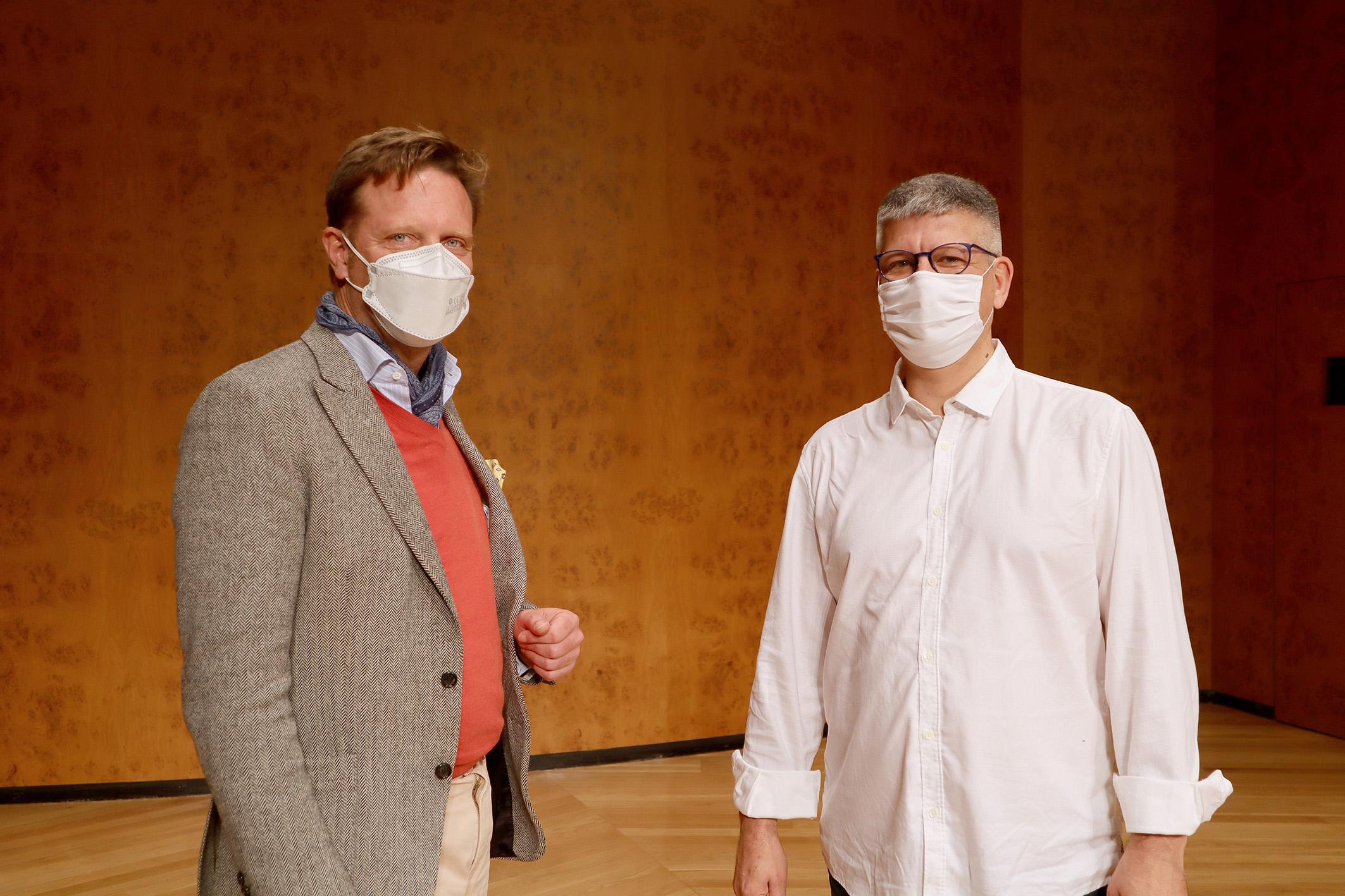 La Fundación Auditorio y Teatro firma un convenio con Promuscan para impulsar la labor de los compositores y divulgar legado musical de Canarias