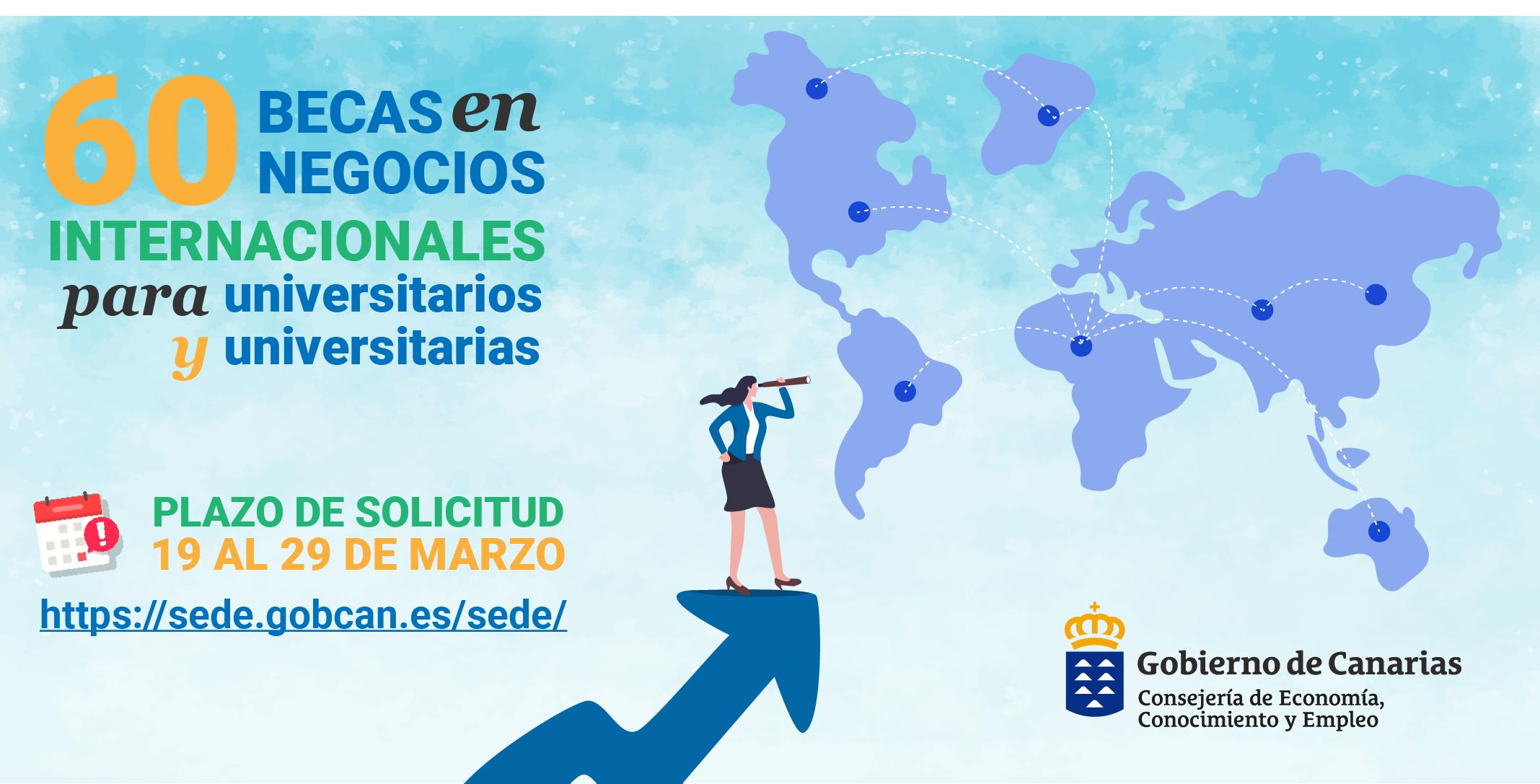 La Consejería de Economía convoca 60 becas en negocios internacionales para personas universitarias