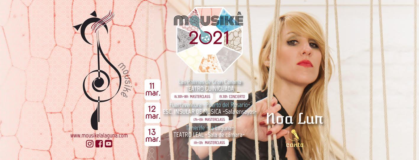 La cantante Noa Lur, Premio a la Excelencia en la Producción de Jazz, ofrece 3 masterclasses gratuitas y 1 concierto en Canarias con Mousikê. 11, 12 y 13 de marzo