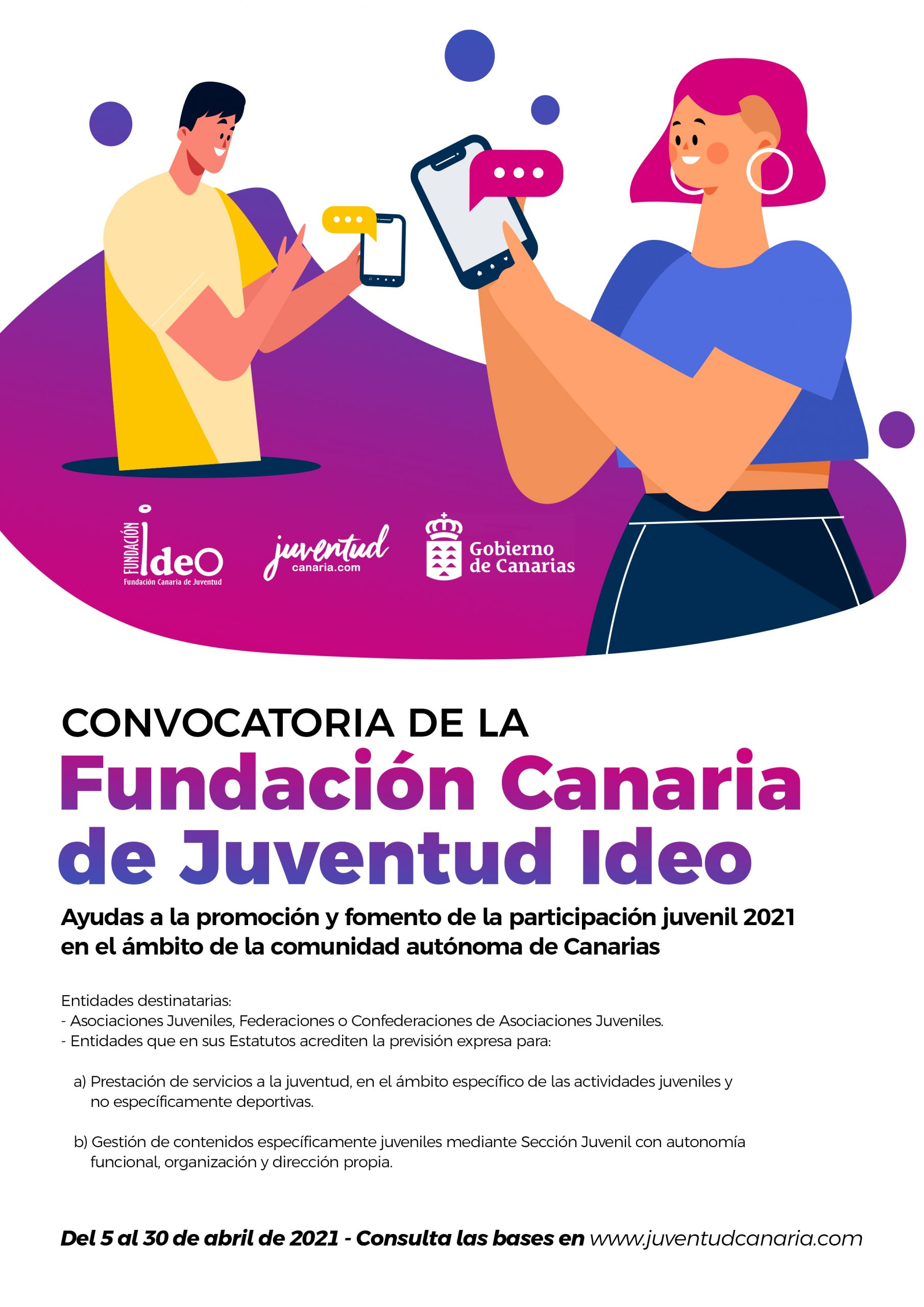 Juventud concederá hasta 2.000 euros a proyectos de entidades que fomenten la participación juvenil