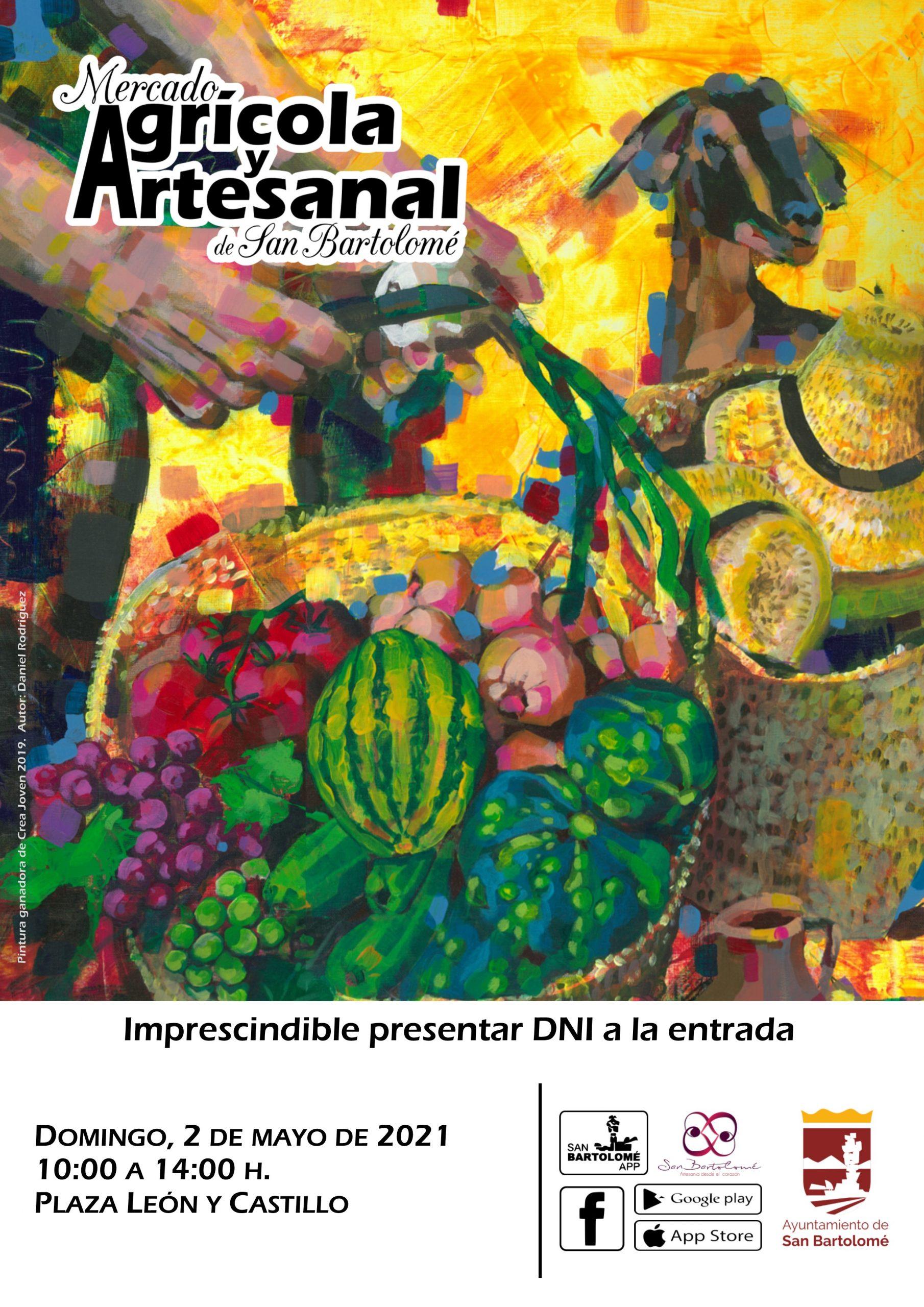 Reabre el domingo 2 de mayo el Mercado Agrícola y Artesanal de San Bartolomé