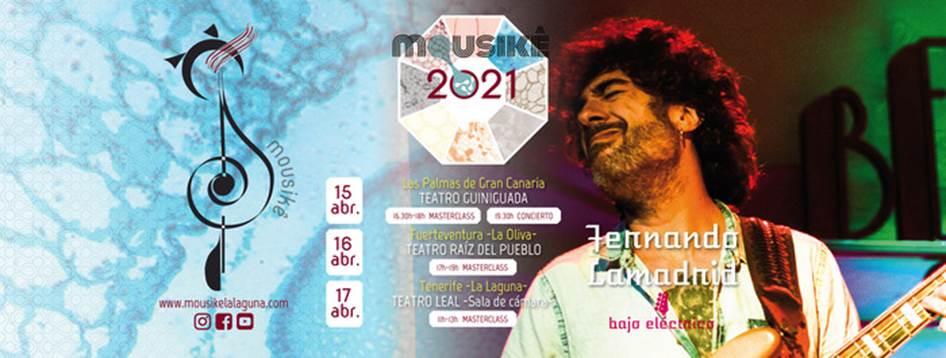 El bajista Fernando Lamadrid ofrecerá 3 masterclasses más 1 concierto programados por Mousikê esta semana