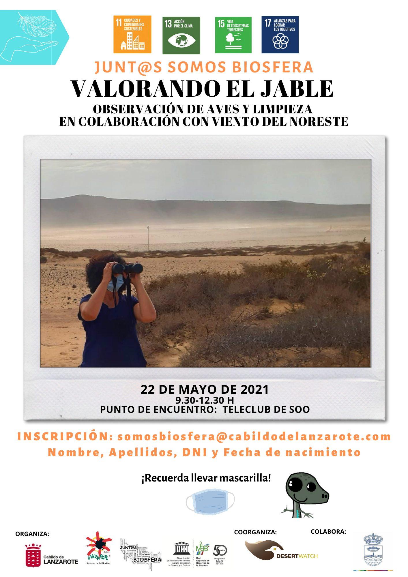 El Cabildo organiza una acción de voluntariado para potenciar el enclave natural de El Jable