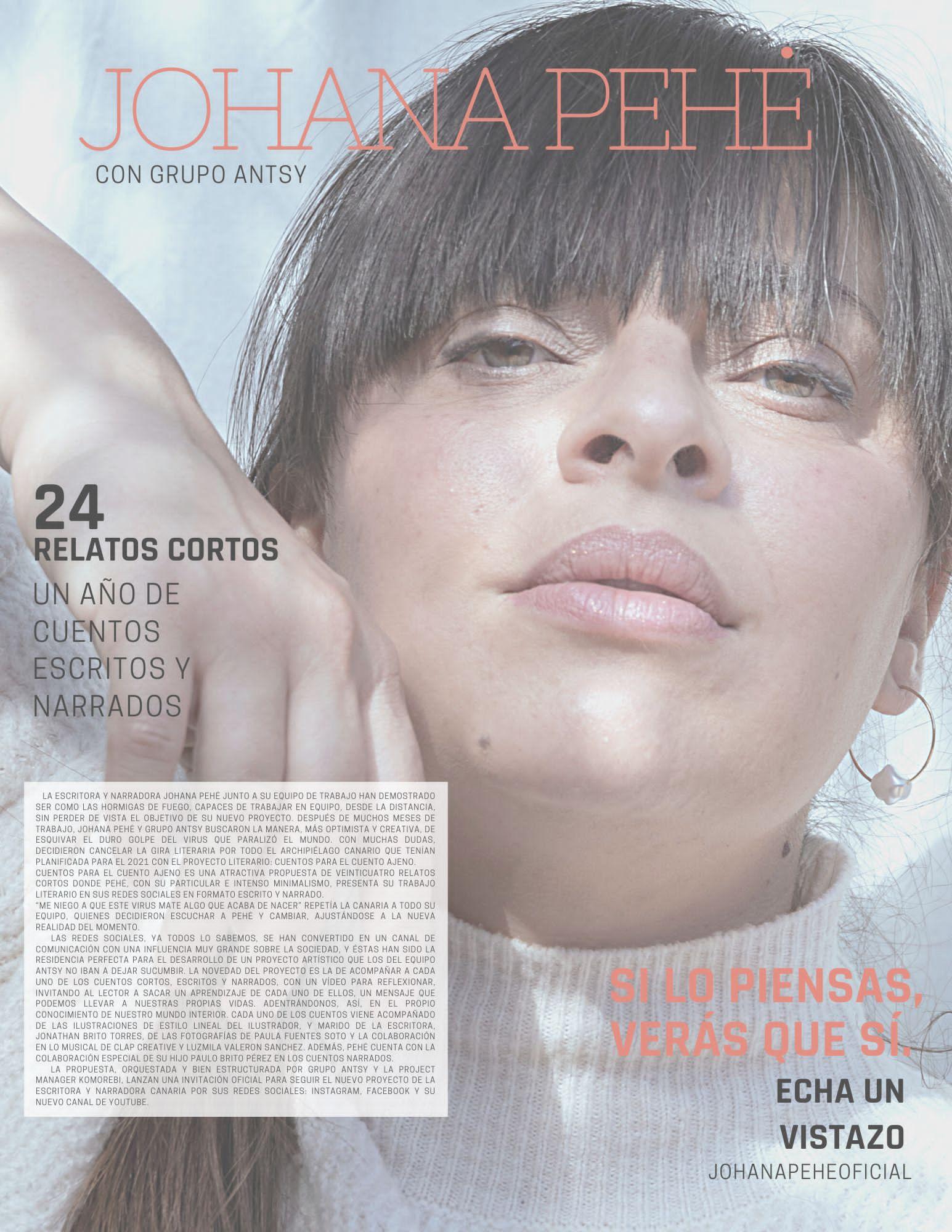 """Johana Pehé, presenta su nuevo proyecto literario: """"Cuentos para el cuento ajeno"""""""