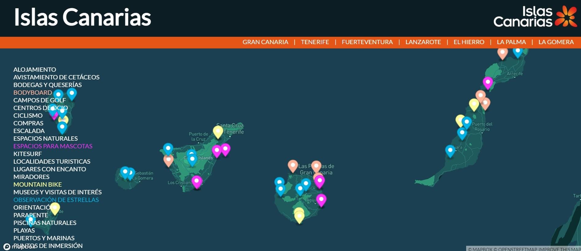 Canarias estrena su presencia en Fitur ofreciendo a los visitantes la geolocalización de sus recursos turísticos