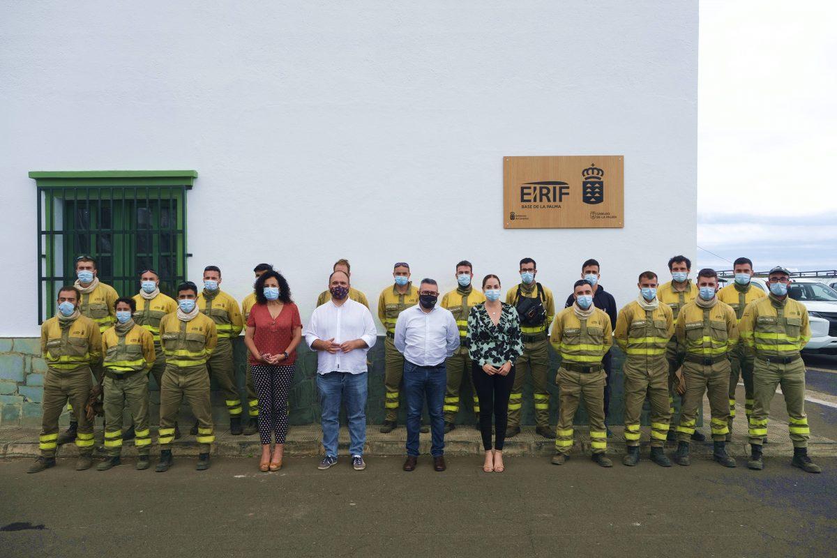 El Gobierno de Canarias felicita a los efectivos EIRIF que participaron en el incendio de Arico