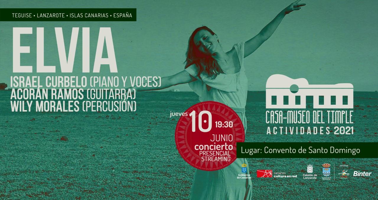 La cantante Elvia, próxima cita con la cultura en la Villa de Teguise