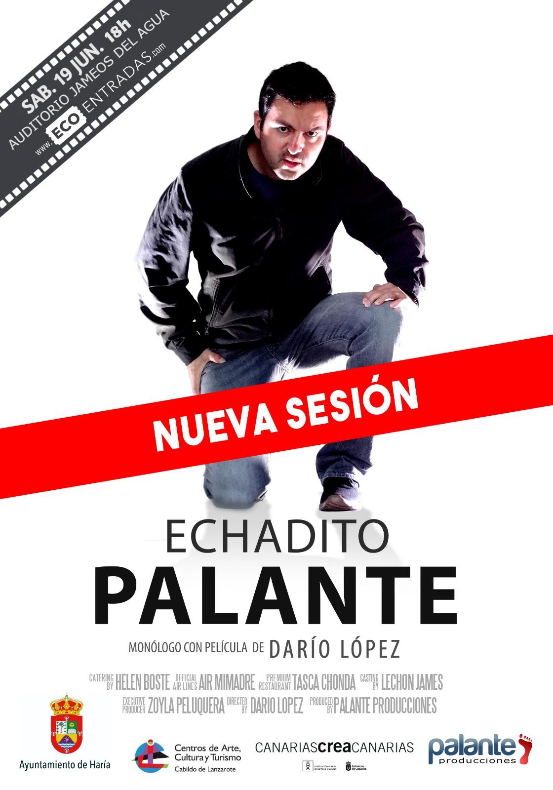 Haría acoge dos funciones del espectáculo de Darío López, 'Echadito Palante'