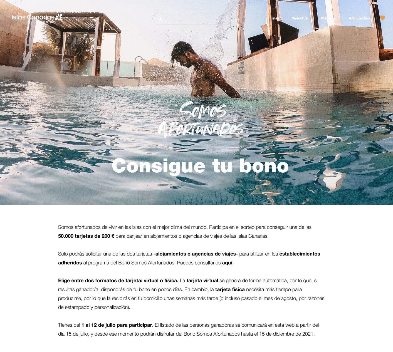 Turismo abre mañana a las 12.00 horas la inscripción para que los residentes canarios opten a los bonos turísticos