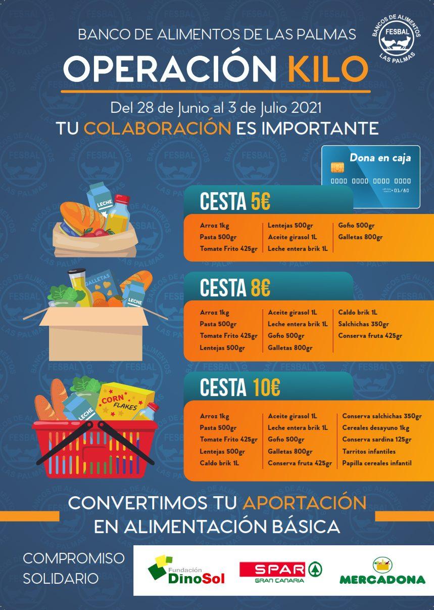 Un año más el Banco de Alimentos de Las Palmas ha organizado la Operación Kilo del verano