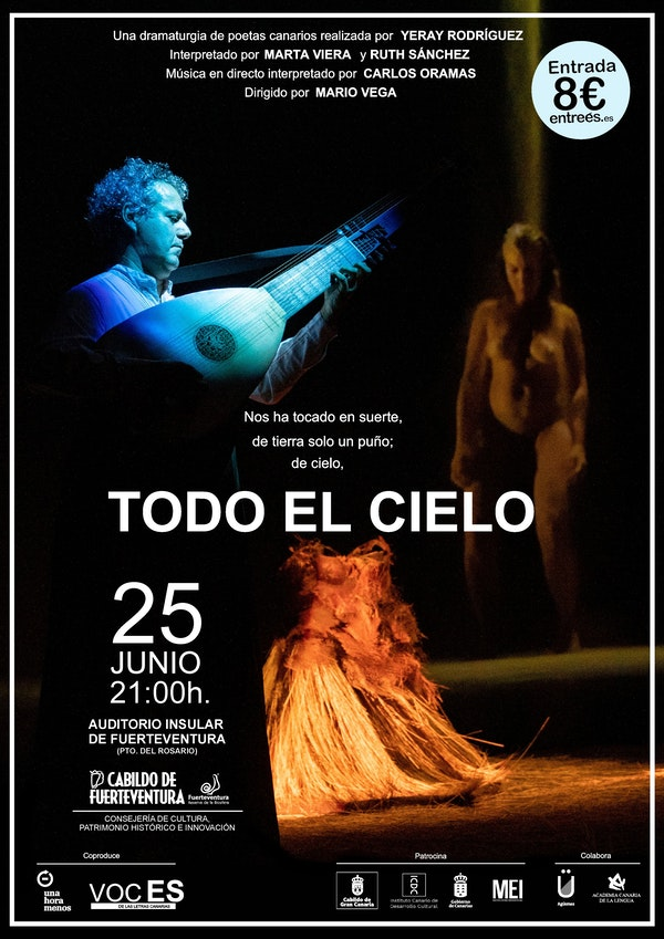 'Todo el cielo', de Mario Vega, en el Auditorio Insular de Fuerteventura