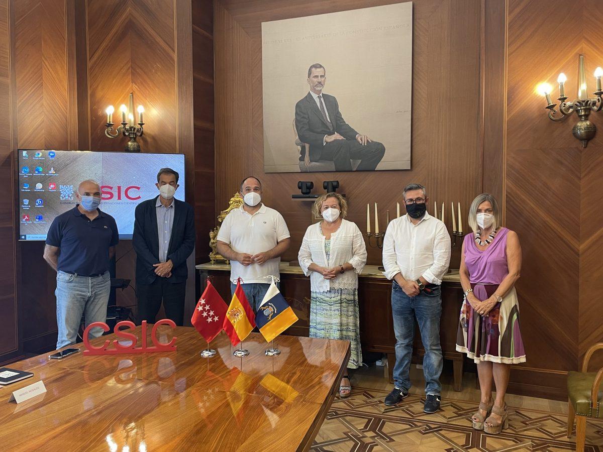 El Gobierno de Canarias incrementará la colaboración con el CSIC en materia de biodiversidad y cambio climático