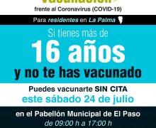 Los residentes en La Palma mayores de 16 años sin vacunar pueden vacunarse sin cita este sábado