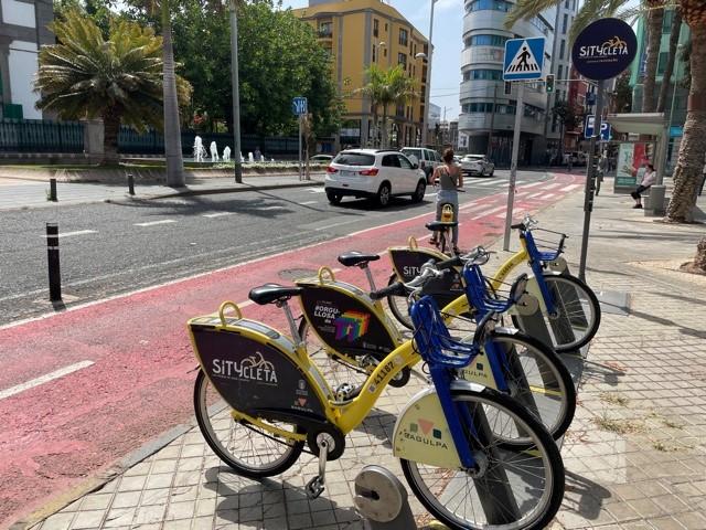 Transportes subvenciona con 525.000 euros el servicio de bicicletas eléctricas en Las Palmas de Gran Canaria
