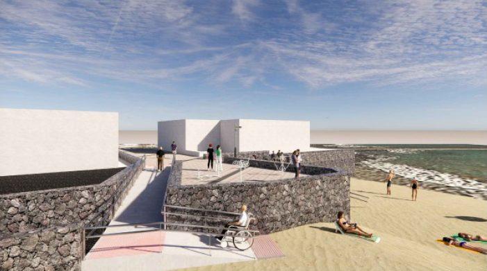 Turismo de Canarias contribuye con la regeneración de la zona urbana y accesos a la playa de La Garita en Arrieta