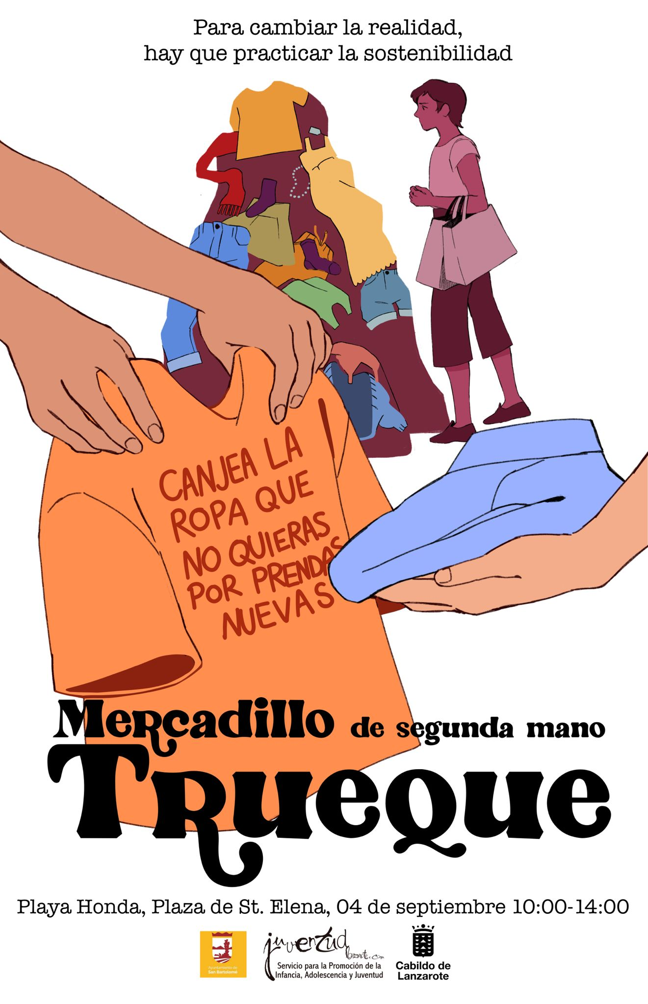 El Cabildo promueve la sostenibilidad con la organización del mercadillo de segunda mano 'Trueque'