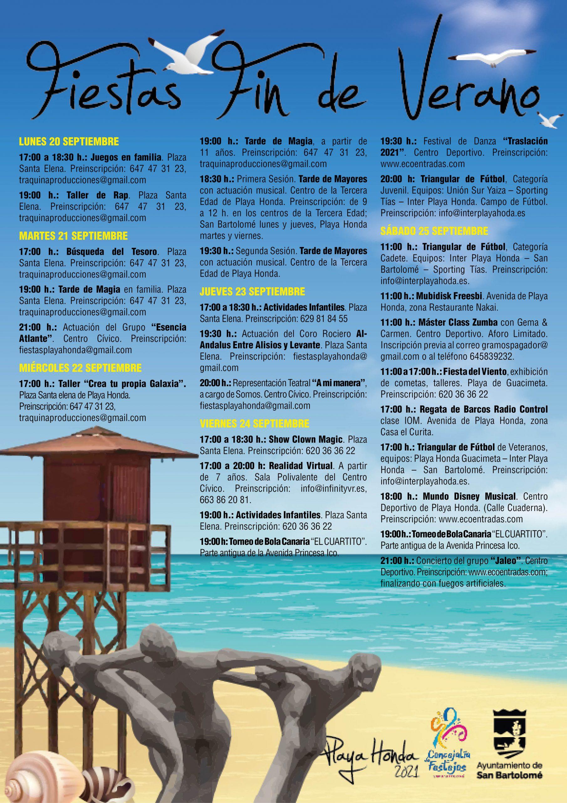Fiestas de Fin de Verano de Playa Honda