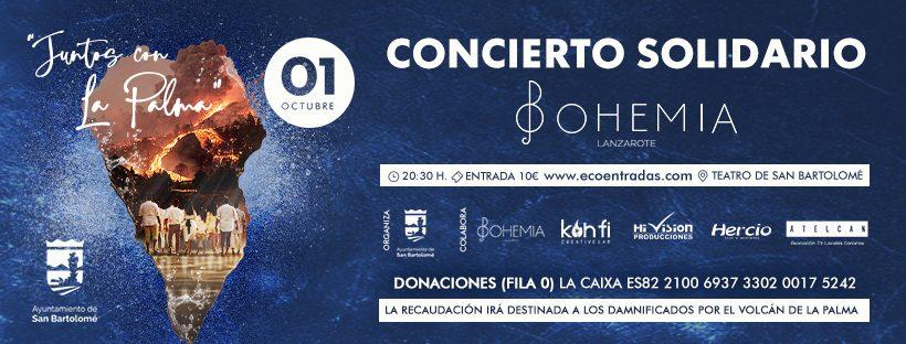 """San Bartolomé organiza el concierto solidario """"Juntos por La Palma"""" con la actuación musical de """"Bohemia Lanzarote"""""""