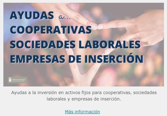 Ayudas cooperativas sociedades laborales empresa de inserción