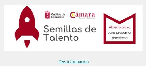 Programa Semillas de Talento programa ejecutado por la Cámara de Comercio de Lanzarote