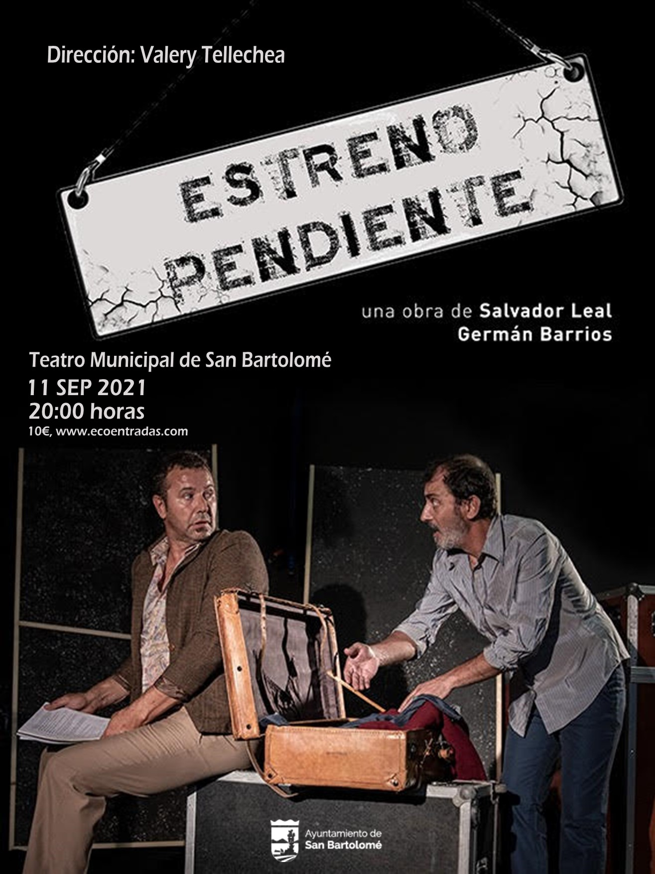 Teatro, a cargo de Trama2 Producciones, con la obra: Estreno Pendiente en el Teatro Municipal de San Bartolomé