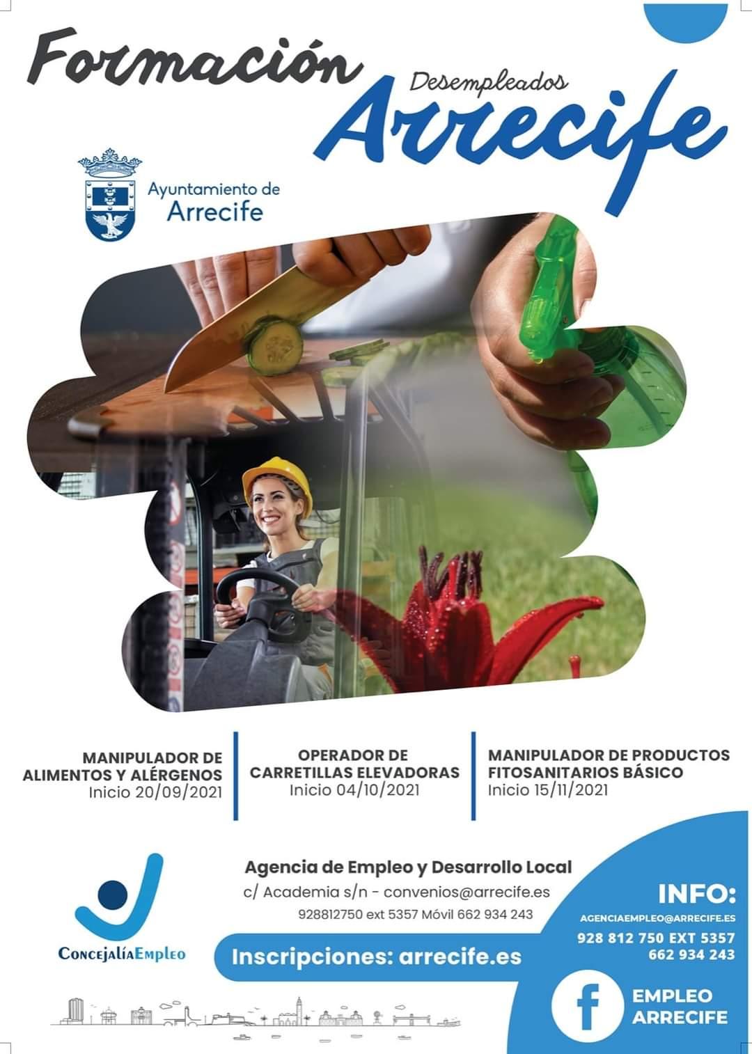 El Ayuntamiento de Arrecife hace pública la convocatoria de cursos para desempleados