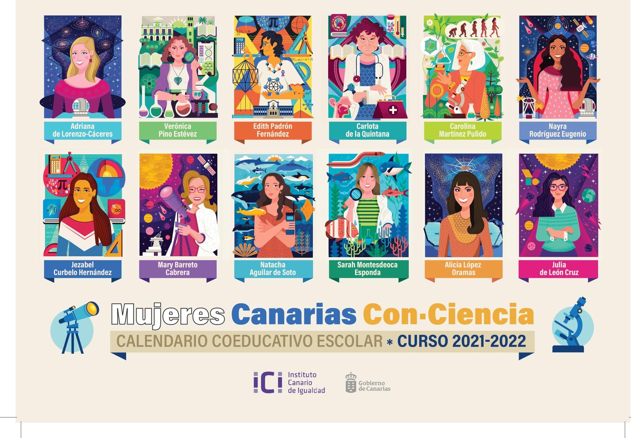 El Instituto Canario de Igualdad visibiliza el legado de doce científicas canarias entre el alumnado de las Islas