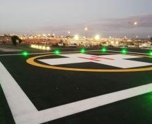 El Área de Salud de Fuerteventura adapta su helipuerto y mejora su operatividad