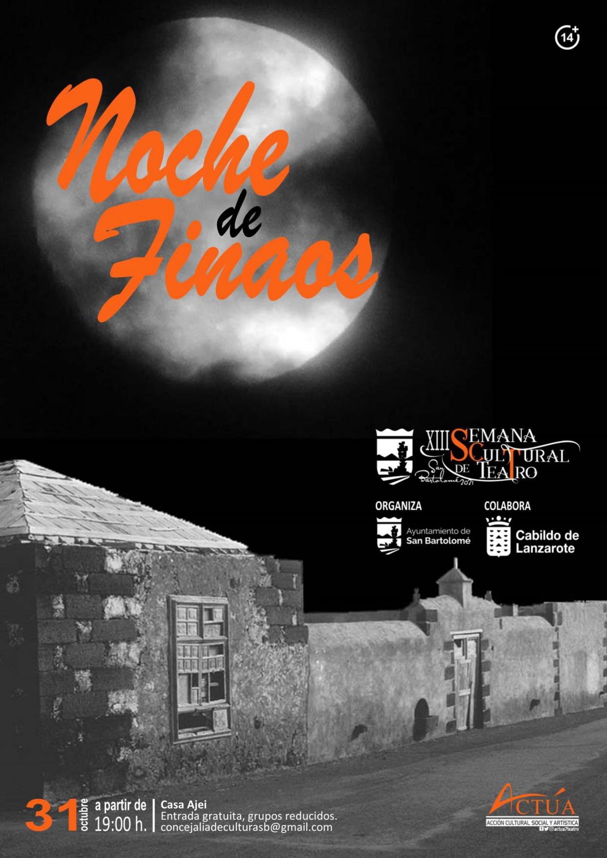 La Noche de Finaos en San Bartolomé contará con escenificaciones teatrales en la Casa Ajei