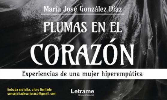 """La Casa Cerdeña acogerá la presentación del libro """"Plumas en el corazón"""" de la autora María José González Díaz el 14 de octubre a las 19.00 horas"""